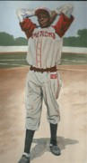 Negro Leagues Art - Satchel-1 by Perry Ashe