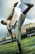Negro Leagues Acrylic Prints - Satchel Acrylic Print by Rich Marks