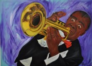 Rock And Roll Painting Originals - Satchmo by Mitchell Todd