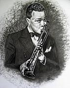 Music Icon Prints - Satchmo Print by Toni  Thorne