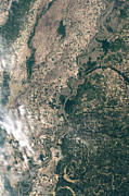 Cartography Photos - Satellite Image Of Flood Waters by Stocktrek Images
