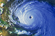 Noaa Prints - Satellite Image Of Hurricane Floyd Print by NASA / Science Source