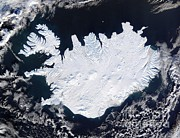 Satellite Image Posters - Satellite Image Of Iceland Poster by NASA/Science Source