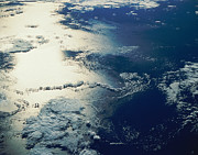 Cartography Photos - Satellite Image Of Sunlight Reflected By An Ocean by Stocktrek