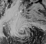 Satellite View Of Hurricane Sandy Print by Stocktrek Images
