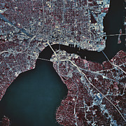Jacksonville Florida Prints - Satellite View Of Jacksonville, Florida Print by Stocktrek Images