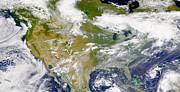 Satellite View Of North America Print by Stocktrek Images