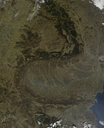 Carpathian Mountains Posters - Satellite View Of The Carpathian Poster by Stocktrek Images