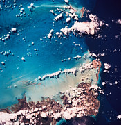 Satellite View Of The Ocean Print by Stockbyte