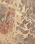 Satellite View Of Wadi Rum Print by Stocktrek Images
