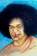 Baba Paintings - Sathya Sai Baba by Jaiteg Singh