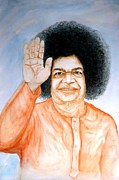 Sai Baba Paintings - Sathya Sai baba by Shashikanta Parida