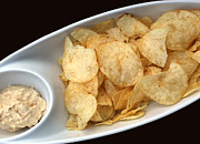 Salty Treat Posters - Satisfy the Craving with Chips and Dip Poster by Barbara Griffin