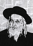 Rabbi Paintings - Satmar Rebbe by Anshie Kagan