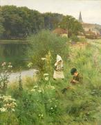 1893 Paintings - Saturday Afternoon by Gunning King