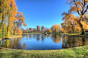 Boston Common Prints - Saturday in the Park Print by JC Findley