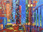 Chicago Landmark Paintings - Saturday Night At The Palace by J Loren Reedy