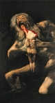 Devil Paintings - Saturn Devouring one of his Children  by Goya