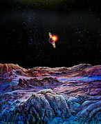 Cosmic Paintings - Saturn from Iapetus by Don Dixon