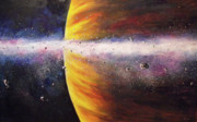 Planet System Painting Prints - Saturn Print by Koro Arandia