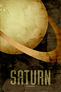 Solar System Posters - Saturn Poster by Michael Tompsett