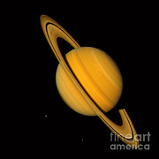 Gas Giant Posters - Saturn Poster by NASA / Science Source