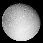 Impact Art - Saturns Moon Dione by Stocktrek Images