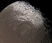 Topography Photos - Saturns Moon Iapetus by Stocktrek Images