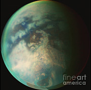 Featured Art - Saturns Moon Titan by Nasa
