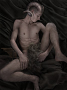 Satyr At Rest Print by John Clum