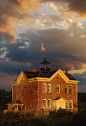 Lighthouse Artwork Posters - Saugerties Ny Lighthouse Poster by Skip Willits