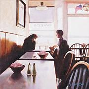 Sausalito Paintings - Sausalito Cafe by Susan Cox