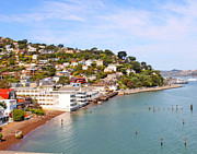 Sausalito Framed Prints - Sausalito California Framed Print by Jack Schultz