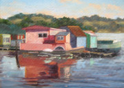 Sausalito Paintings - Sausalito by Deborah Cushman