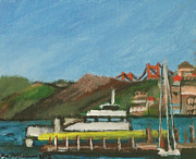 Sausalito Paintings - Sausalito Ferry by Kyle McGuigan