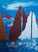 Sausalito Paintings - Sausalito In Abstract by Vicky D