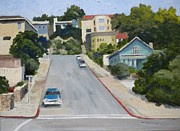 Sausalito Paintings - Sausalito Street by Maralyn Miller