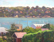 Sausalito Paintings - Sausalito Vista No. 2 by Deborah Cushman
