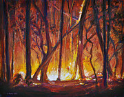 Fires Paintings - Savage Beauty by Li Newton