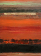 Abstracted Landscape Paintings - Savanna by Rose Lynch
