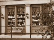 Benches Photos - Savannah Sepia - Antique Shop by Carol Groenen