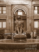 Historic Site Posters - Savannah Sepia - Cotton Exchange Building Poster by Carol Groenen