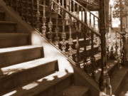 Shadows And Light Framed Prints - Savannah Sepia - Stairs Framed Print by Carol Groenen