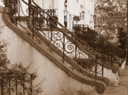 Stoops Prints - Savannah Sepia - Stoops Print by Carol Groenen