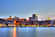 Riverfront Prints - Savannah Skyline Print by Shawn Everhart