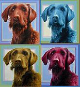 Dog Portrait Originals - Savannah the Labradoodle by Hans Droog