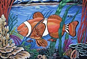 Exotic Fish Paintings - Save My World by Miriam Sage