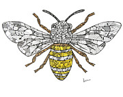 Bee Drawings - Save The Bees by Leanne Karlstrom