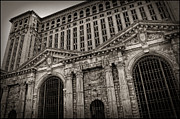 Flooded Prints - SAVE THE DEPOT - Michigan Central Station Corktown - Detroit Michigan Print by Gordon Dean II