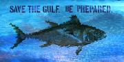 Gulf Of Mexico Prints - Save the Gulf America 2 Print by Paul Gaj